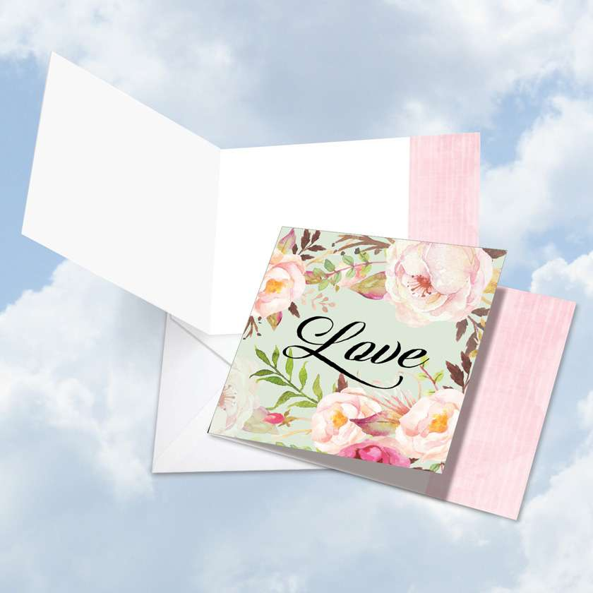 In a Word - Love Blank Square Card