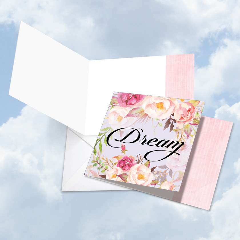 In a Word - Dream Blank Square Card