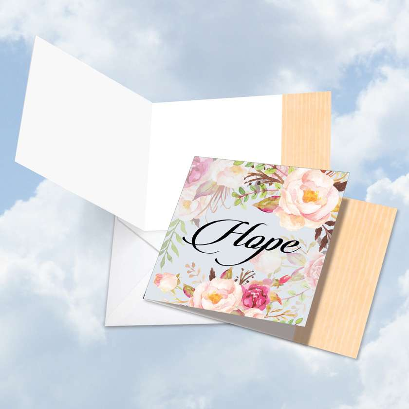 In a Word - Hope Blank Square Card