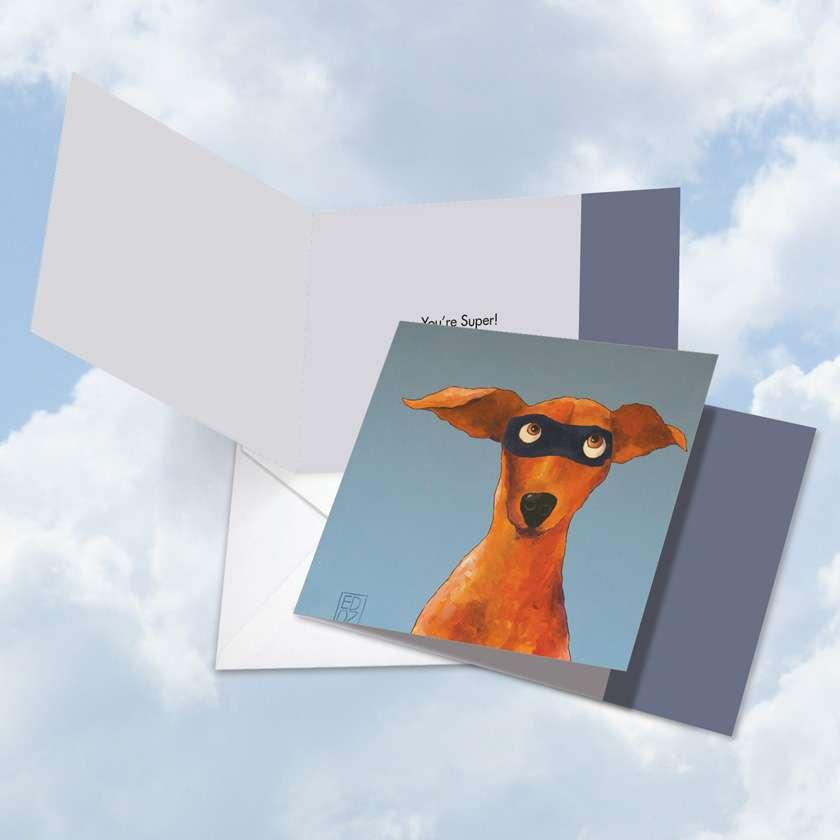 Masked Hounds Mug Shot: Stylish Thank You Square-Top Printed Card