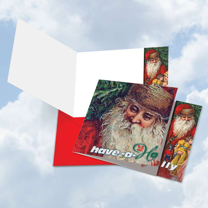 Abstract Wishes - Have a Holly: Creative Christmas Square-Top Printed Card