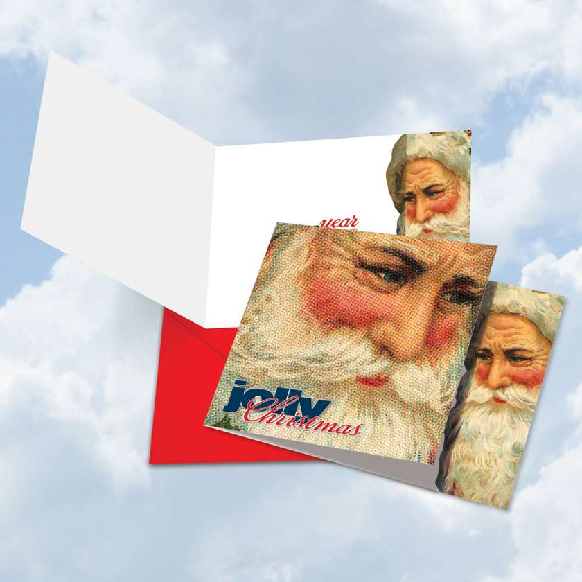 Abstract Wishes - Jolly Christmas Square Card