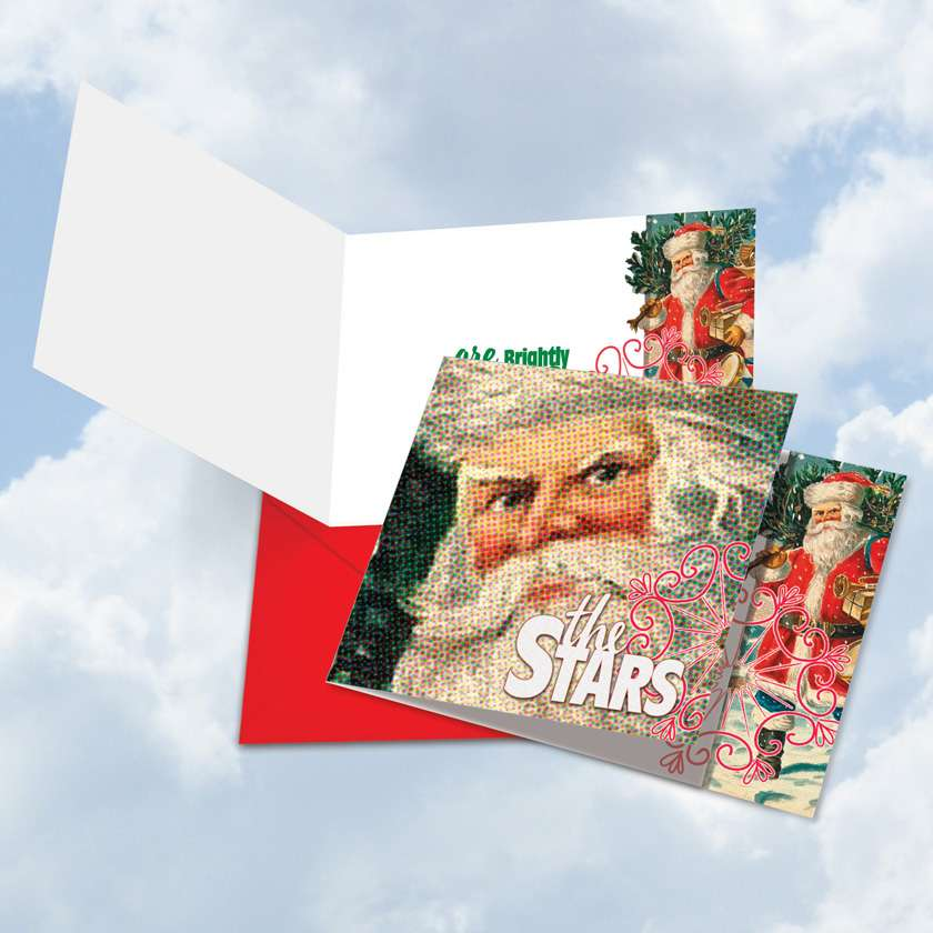 Abstract Wishes - The Stars: Creative Christmas Square-Top Paper Card