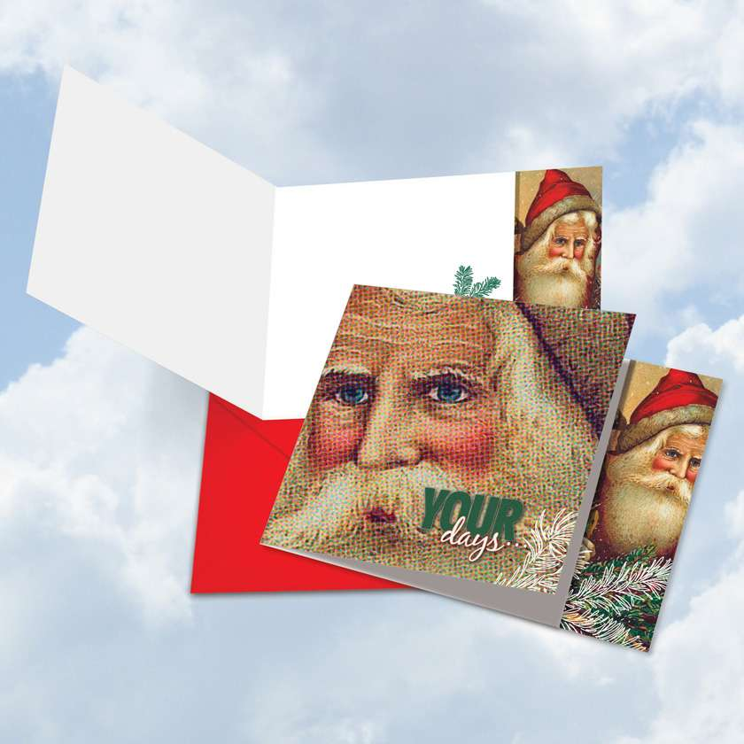 Abstract Wishes - Your Days: Creative Christmas Square-Top Greeting Card