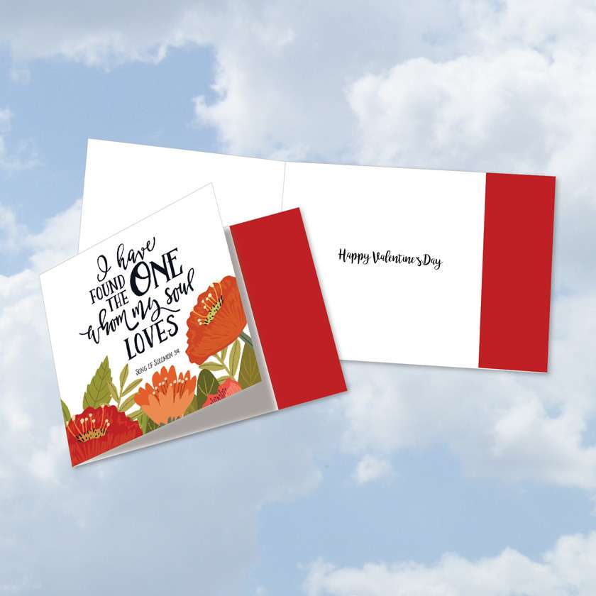 Perfect Love Quotes: Creative Valentine's Day Square-Top Paper Greeting Card
