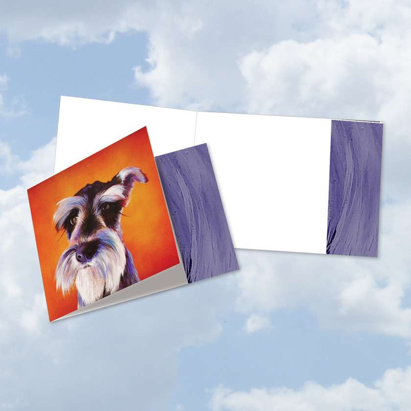 Animal Magnetism-Dog - Dog: Stylish All Occasions Blank Square-Top Paper Greeting Card