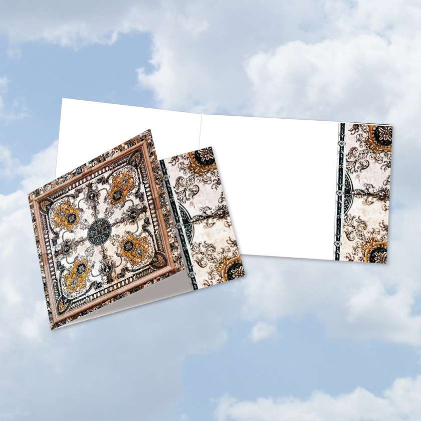 Classic Antique Tiles Blank Square-Top Card