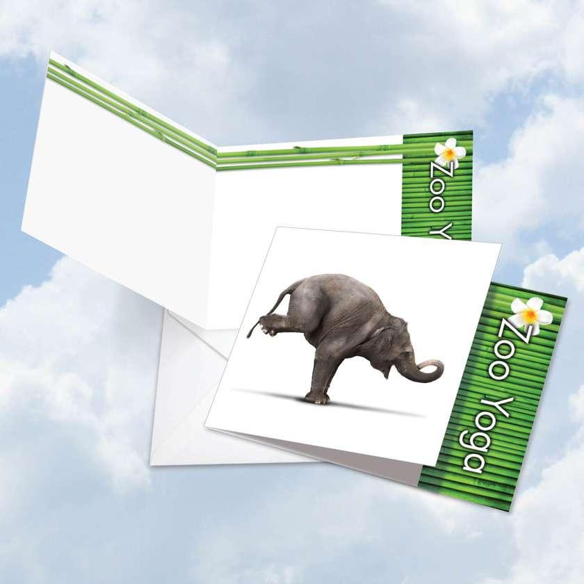 Zoo Yoga - Elephant Card