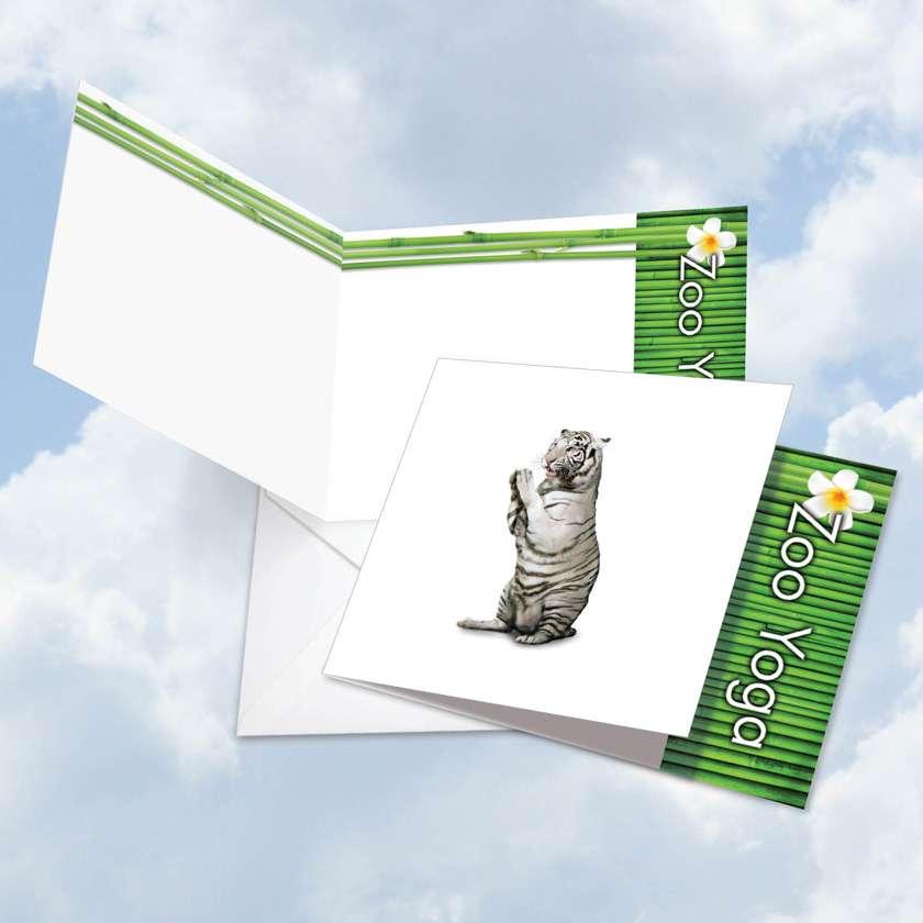 Zoo Yoga - White Tiger Card