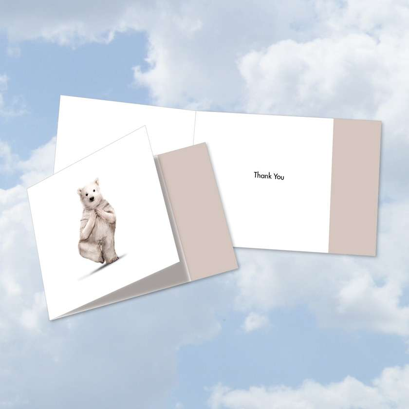 Zoo Yoga: Creative Thank You Square-Top Printed Greeting Card