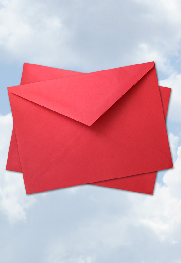"5"" x 7"" 24lb Red Envelope Pack of 12"