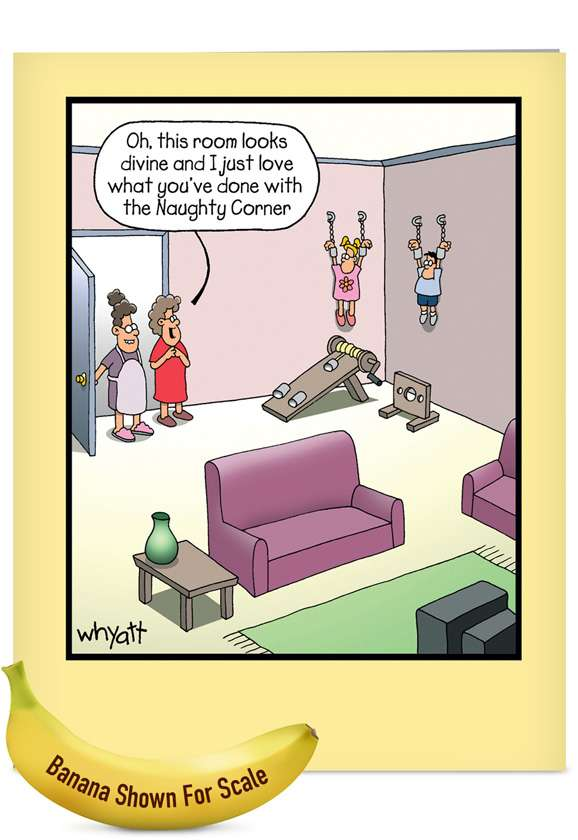 Room Looks Divine: Hilarious Mother's Day Jumbo Paper Greeting Card
