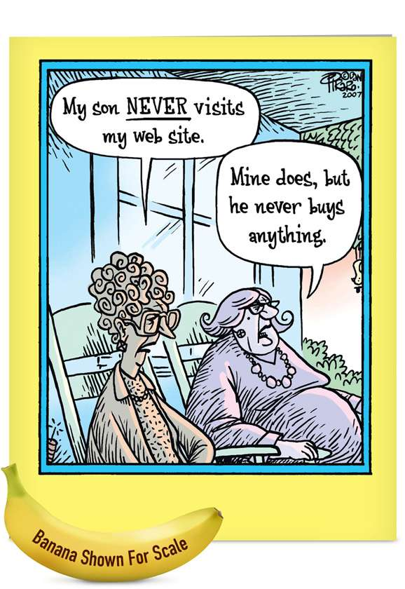 Never Visit Website: Funny Mother's Day Jumbo Printed Card