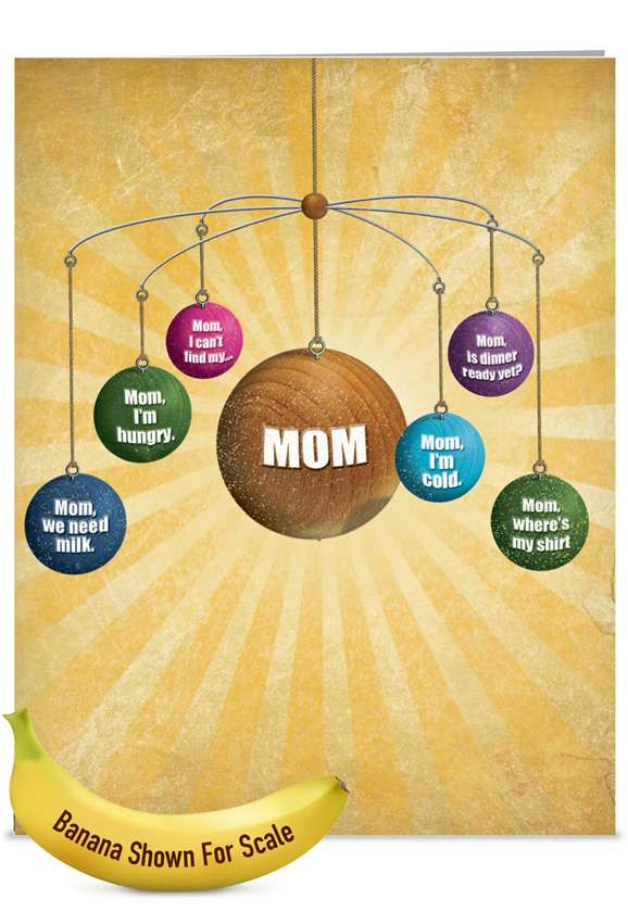Where Is Mom: Humorous Mother's Day Jumbo Greeting Card