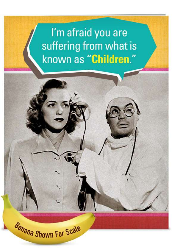 Suffering from Children: Funny Mother's Day Jumbo Paper Greeting Card