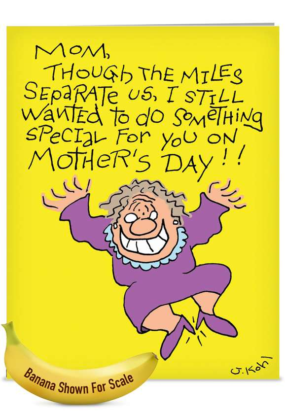 Cleaned My Room: Hysterical Mother's Day Jumbo Printed Card