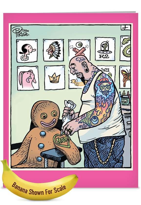 Mom Tattoo: Humorous Mother's Day Jumbo Paper Card