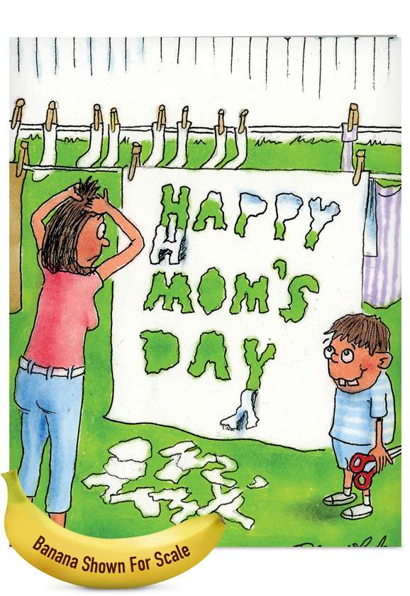 Sheet Cut Out: Humorous Mother's Day Jumbo Paper Greeting Card