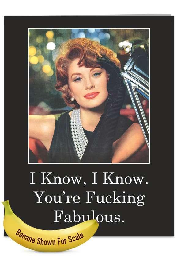 Fucking Fab: Hilarious Blank Jumbo Greeting Card