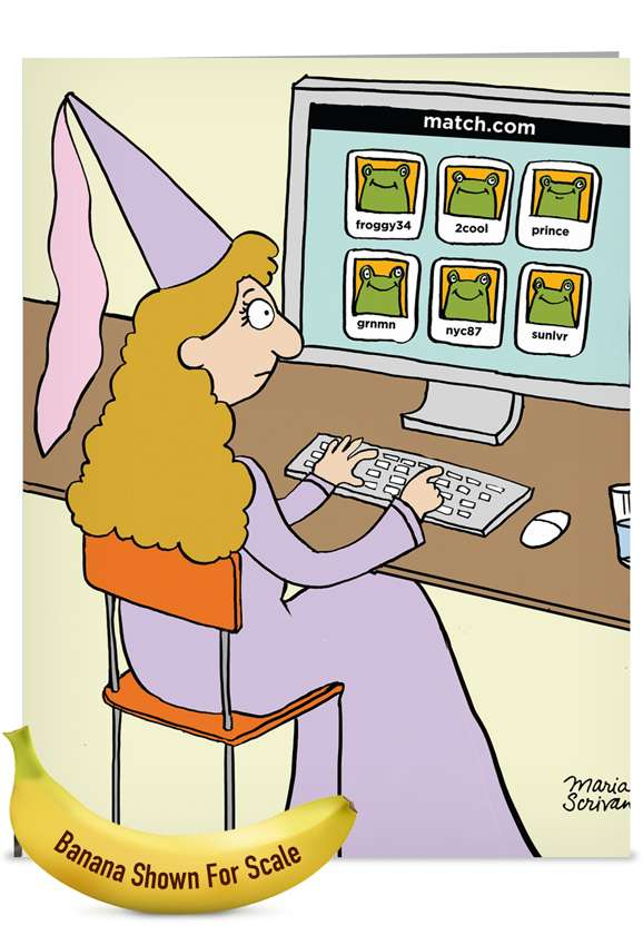 Princess Match: Humorous Bachelorette Jumbo Paper Card