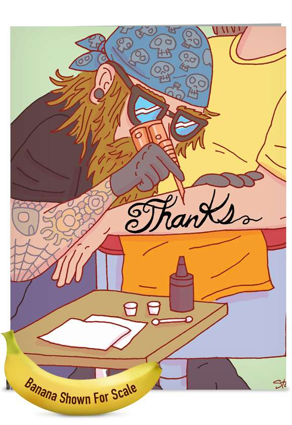 Thanks Forever: Humorous Thank You Jumbo Paper Card