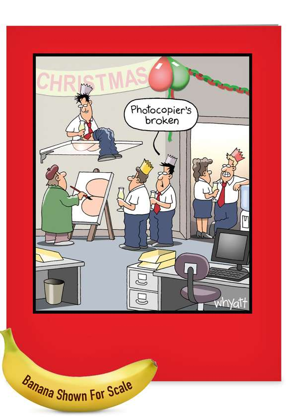 Office Party Photocopier Christmas: Hysterical Merry Christmas Jumbo Printed Greeting Card