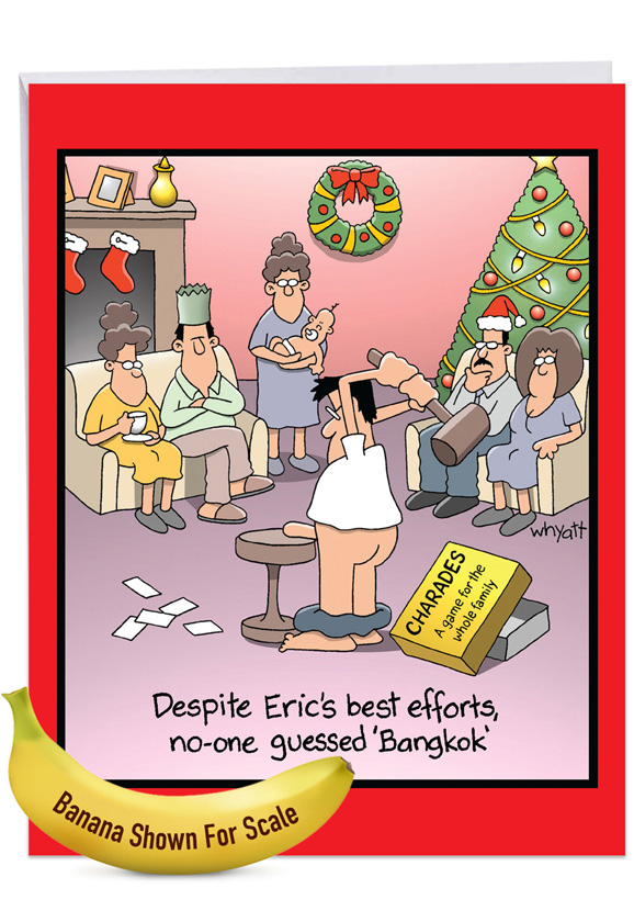 Bangkok: Humorous Merry Christmas Extra Large Paper Card