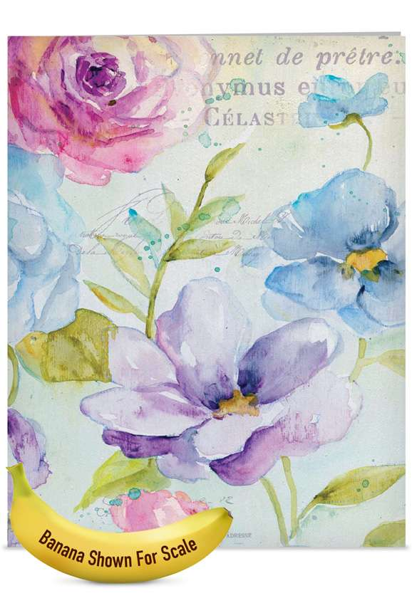 Cool Blossoms: Creative Mother's Day Jumbo Printed Card