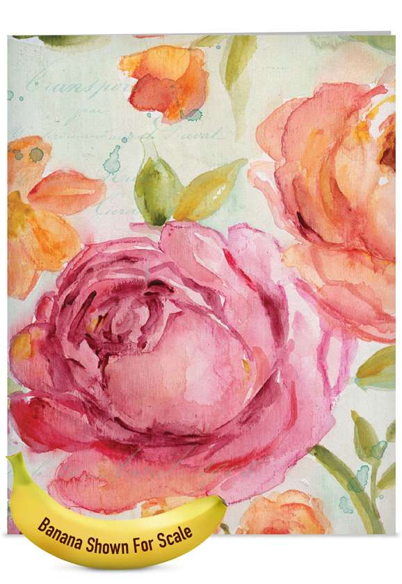 Warm Blossoms: Creative Mother's Day Jumbo Printed Card