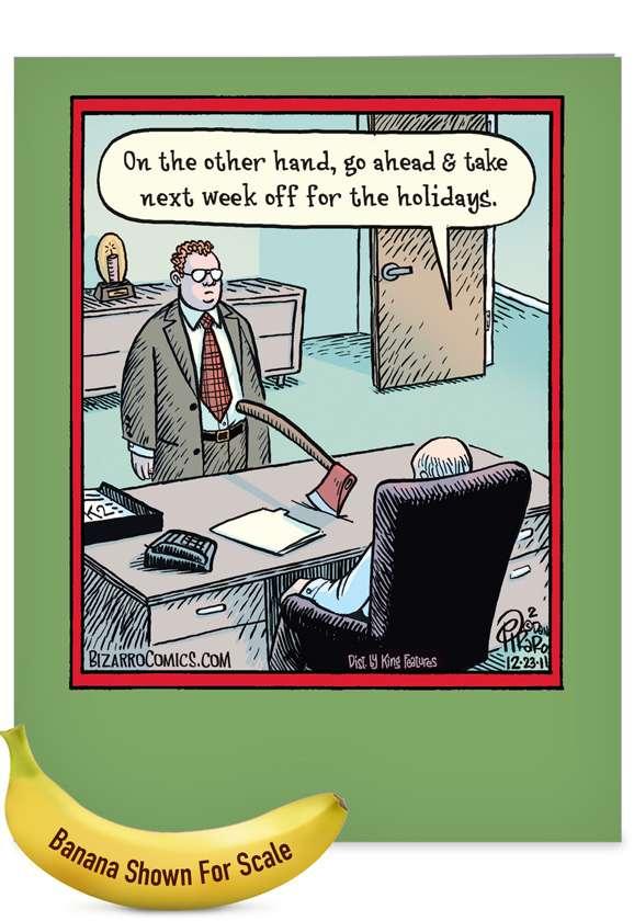 Holiday Week Off Christmas: Funny Merry Christmas Big Card