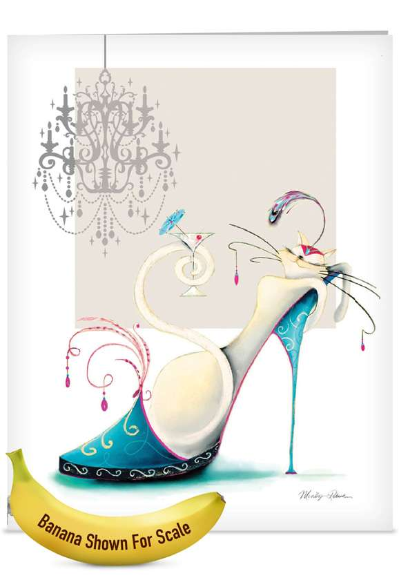 Catitude Shoes: Creative Mother's Day Jumbo Printed Card