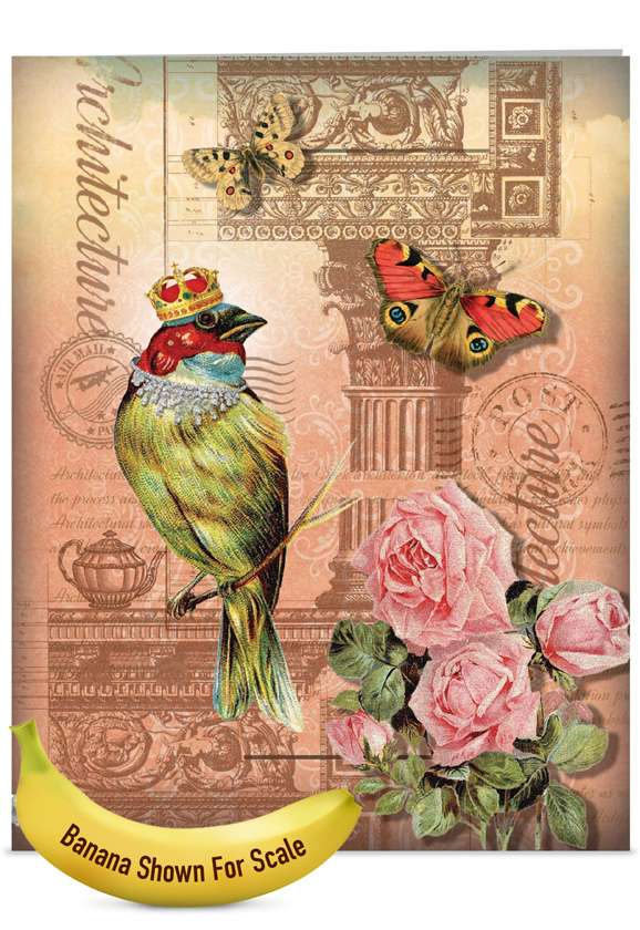 Royal Birds: Creative Mother's Day Jumbo Greeting Card