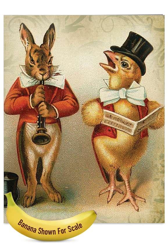 Funny Bunnies: Creative Easter Jumbo Paper Card