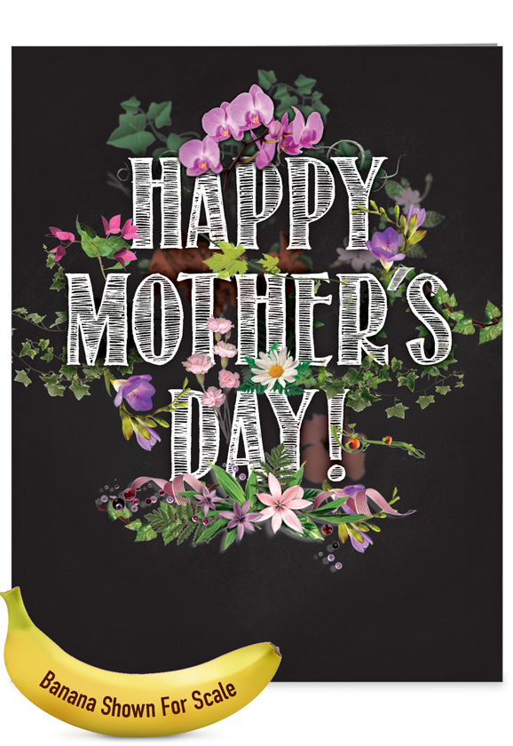 Chalk and Roses: Stylish Mother's Day Big Card