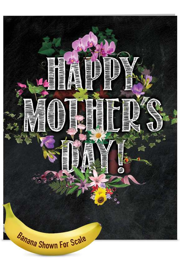 Chalk And Roses: Creative Mother's Day Jumbo Greeting Card