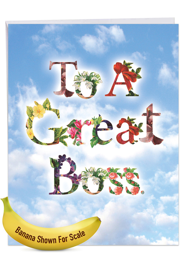 Thanks A Bunch: Stylish Boss's Day Extra Large Paper Card
