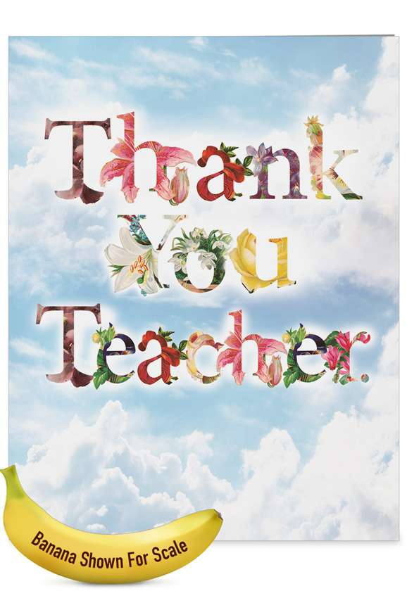 Thanks A Bunch - Teacher TY: Creative Teacher Thank You Large Greeting Card