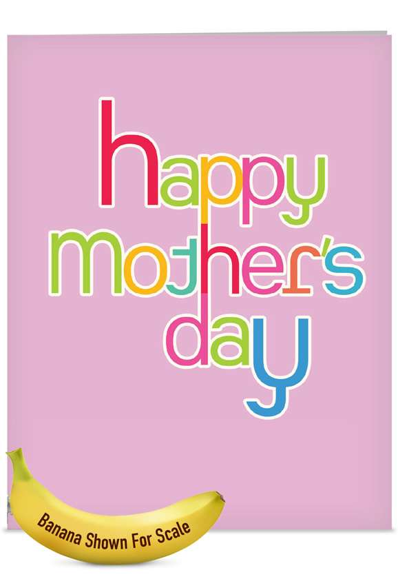 Hipster: Creative Mother's Day Jumbo Printed Greeting Card