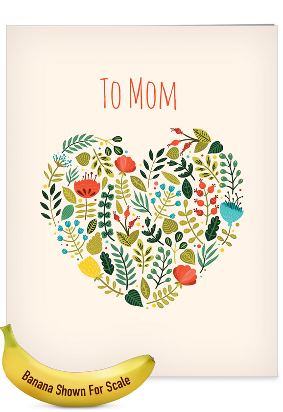 Grateful Greetings: Creative Mother's Day Large Greeting Card