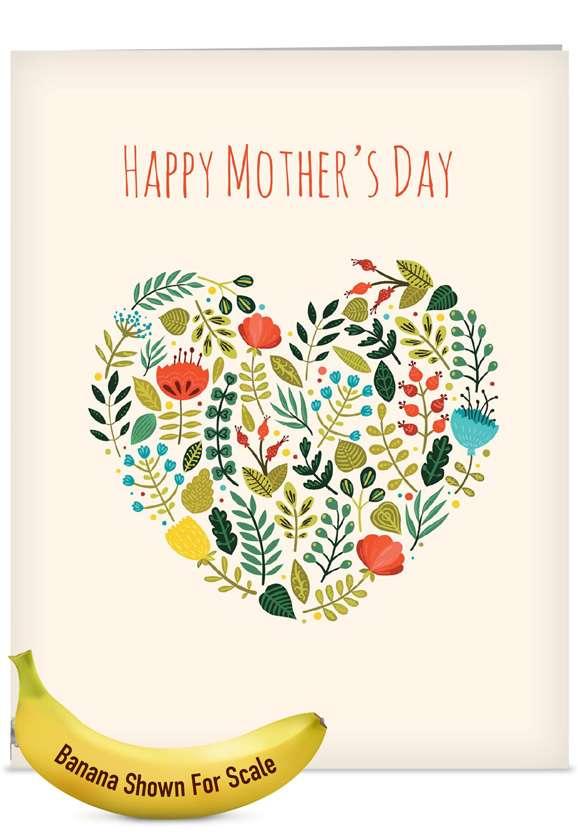 Grateful Greetings: Stylish Mother's Day Jumbo Printed Card