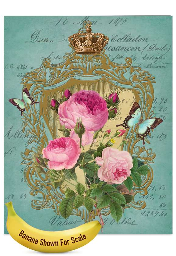 Romance And Roses: Stylish Mother's Day Jumbo Printed Card