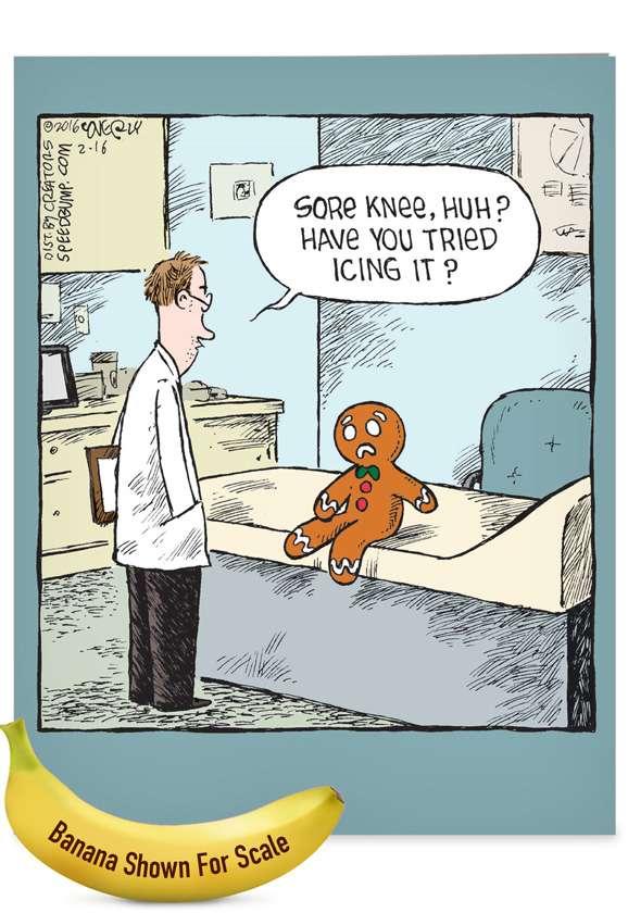 Sore Gingerbread Man Jumbo Card