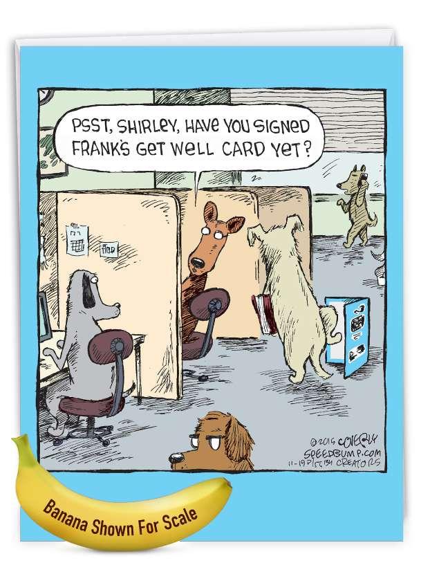 Frank's Card: Stylish Get Well Big Card