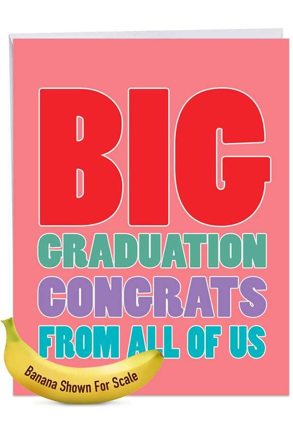 Big Congratuations: Hilarious Congratulations Giant Printed Card