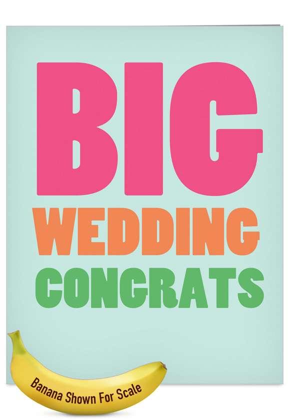 Big Wedding: Hilarious Wedding Jumbo Paper Card