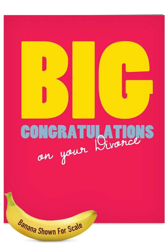 Big Divorce: Funny Divorce Jumbo Paper Greeting Card