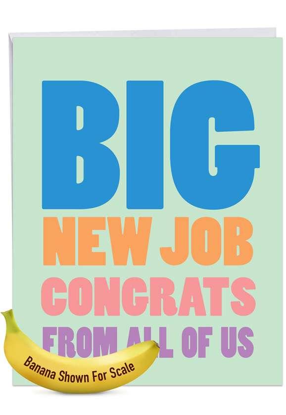 Big New Job Congrats Jumbo Card