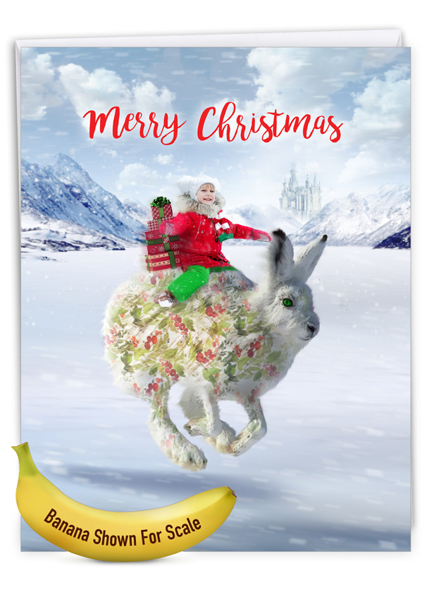 Patterned Animals - Rabbit: Creative Merry Christmas Giant Printed Card