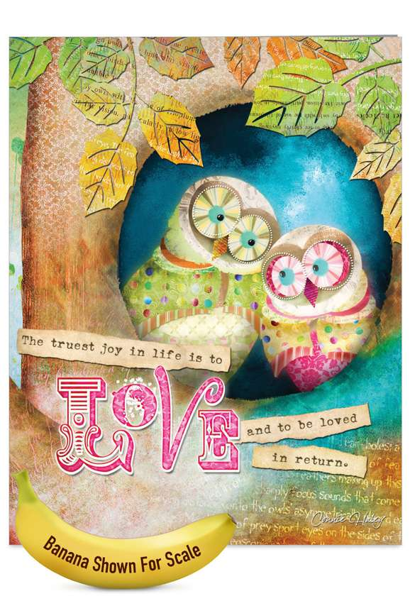 Forest Friends: Creative Wedding Jumbo Paper Greeting Card