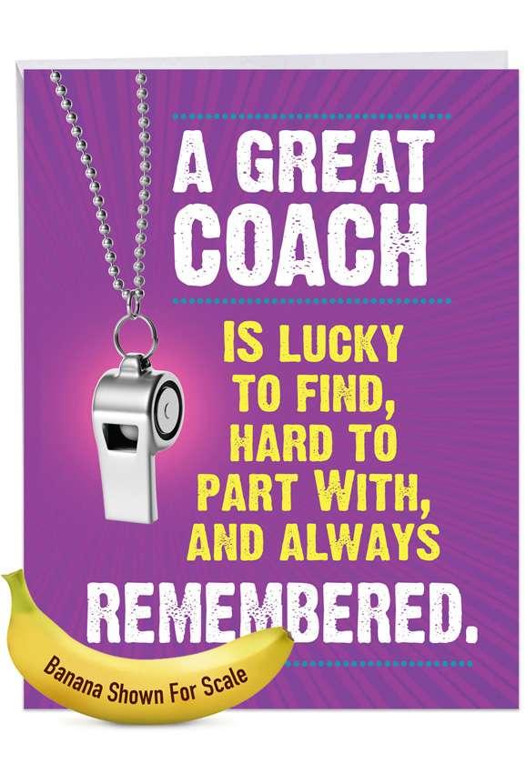 Memorable Coach Jumbo Card
